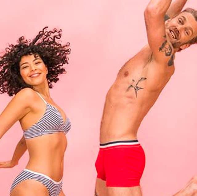 Le slip français couple de mannequin