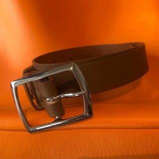 Le cuir est dans le pré boucle de ceinture Poursin